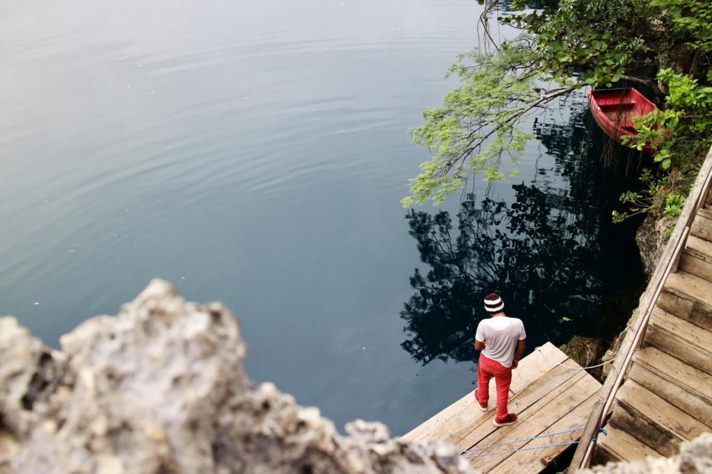 Floating dock at Cenotes de Candelaria, Candelaria 2