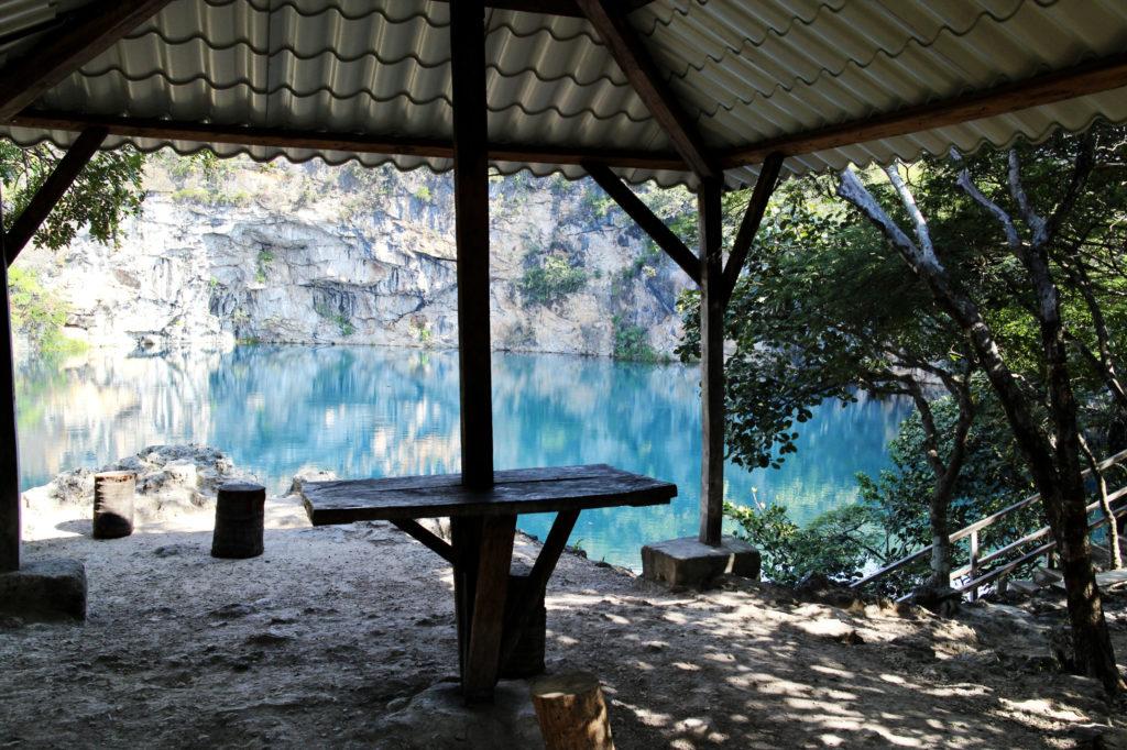 Palapa at the Cenotes de Candelaria